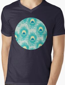 Peacock feathers pattern Mens V-Neck T-Shirt