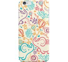 Elephants with bouquets pattern iPhone Case/Skin