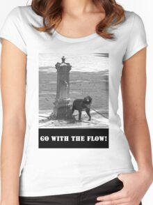 Go With The Flow Women's Fitted Scoop T-Shirt