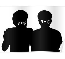 Dan & Phil | Shadows with whiskers Poster