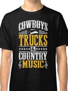 Cowboys, trucks & country music Classic T-Shirt