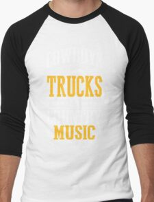 Cowboys, trucks & country music Men's Baseball ¾ T-Shirt