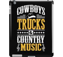 Cowboys, trucks & country music iPad Case/Skin