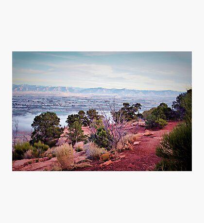 Hiking Along the Beaten Path Photographic Print