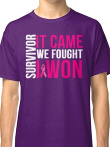 Breast Cancer Survivor I WON Classic T-Shirt