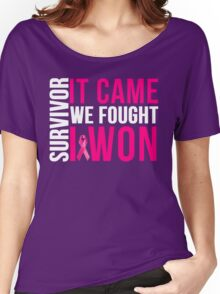 Breast Cancer Survivor I WON Women's Relaxed Fit T-Shirt