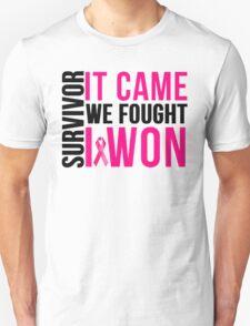 Breast Cancer Survivor I WON Unisex T-Shirt