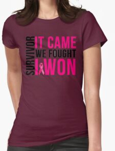 Breast Cancer Survivor I WON Womens Fitted T-Shirt