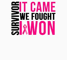 Breast Cancer Survivor I WON Unisex T-Shirt