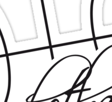 Basketball Text Logo Design Sticker
