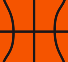 Basketball Stamp Logo Design Sticker