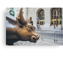 The Charging Bull Canvas Print