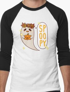 Cute Spoopy Ghost (Color Version) Men's Baseball ¾ T-Shirt