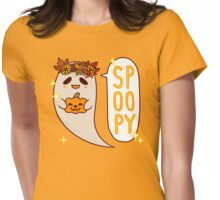 Cute Spoopy Ghost (Color Version) Womens Fitted T-Shirt