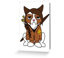 Grumpy Katniss Greeting Card