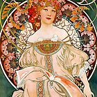 Mucha – Flower Girl by William Martin
