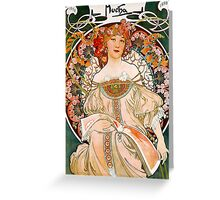 Mucha – Flower Girl Greeting Card