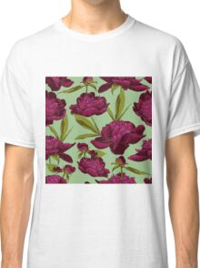 floral background with peonies  Classic T-Shirt