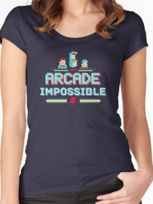 Arcade Impossible Women's Fitted Scoop T-Shirt