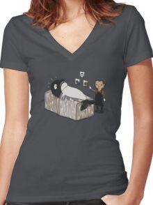 Serial Killer Whale Women's Fitted V-Neck T-Shirt