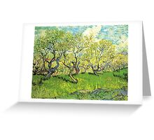 Orchard in Blossom. Vintage floral garden oil painting by Vincent van Gogh. Greeting Card