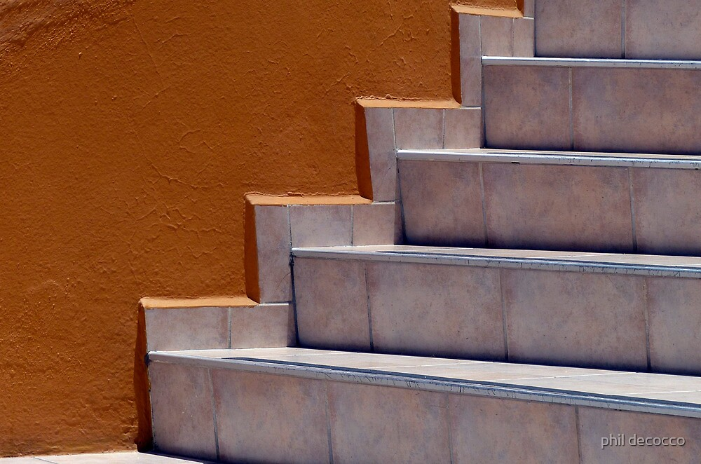 Bronze Stairs by phil decocco
