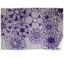 Purple Flora Poster