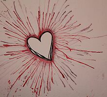 Red Exploding Heart by Amber Batten
