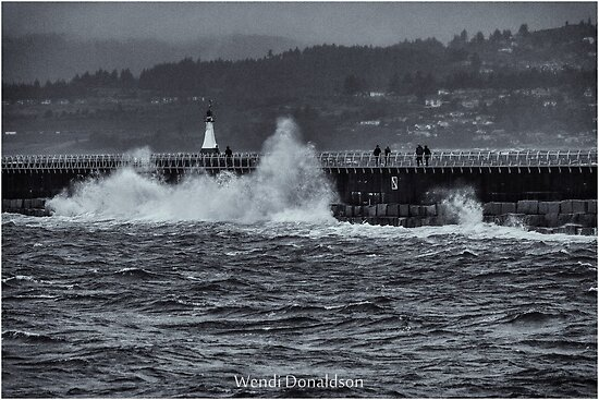 Storm on the Breakwater by Wendi Donaldson