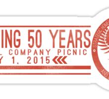 Celebrating 50 Years Sticker