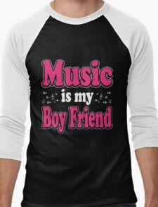 Music is my boy friend Men's Baseball ¾ T-Shirt