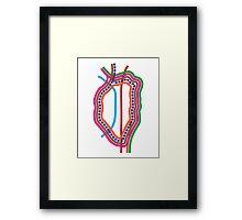 Heart CTA Loop Framed Print