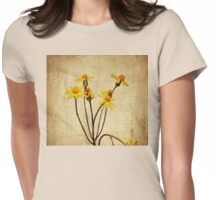 Golden Ragwort - Textured Womens Fitted T-Shirt