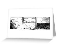 Triple landscape Greeting Card