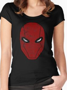 Red Hood Mask  Women's Fitted Scoop T-Shirt