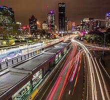 Night Light Lit Lanes by NickVerburgt