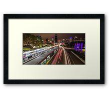 Night Light Lit Lanes Framed Print