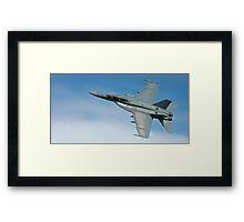Super Hornet Fly By Framed Print