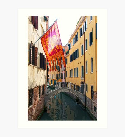 Flag In Venice Art Print