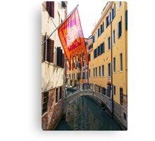 Flag In Venice Canvas Print