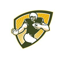American Football Running Back Shield by patrimonio