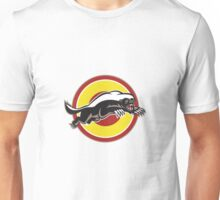 Honey Badger Mascot Leaping Circle Unisex T-Shirt