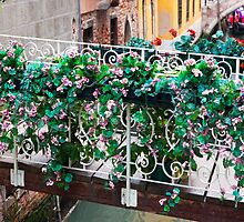 The Flower Bridge In Venice by Adrian Alford Photography