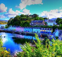 Portree Harbour by Ian Jeffrey