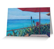 On the Deck by Coralie Newman Greeting Card