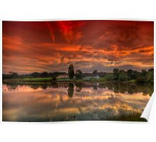 Millpond Sunset Poster