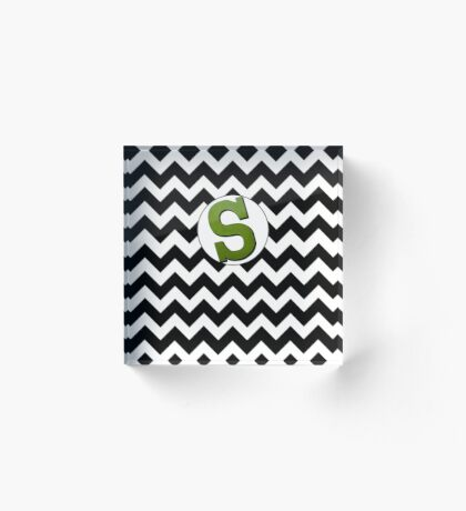 Tilted Letter S Acrylic Block