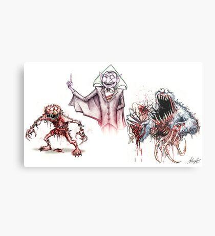 Horror Muppets Metal Print