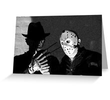 Freddy and Jason Greeting Card