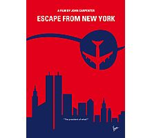No219 My Escape from New York minimal movie poster Photographic Print